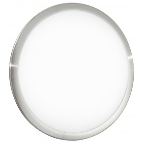 I-DIVINA/PL30 - Plafoniera tonda di colore bianco con cornice in nickel e luci led 14 watt