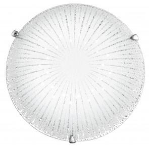 I-CHANTAL/PL40 - Plafoniera moderna con decorazione a raggi e luci led 24 watt