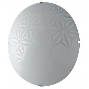 I-EXAGON/PL40 - Plafoniera Disegno Fiori Tonda Vetro Bianco Moderna Soffito Parete Led 28 watt Luce Naturale