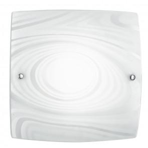 I-UNIVERSE/PL40 - Plafoniera Lampada Moderna decoro Satinato Cerchi Quadrata Vetro Led 24 watt Luce Naturale