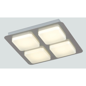 LED-MADISON-Q4 - Plafoniera quadrata con luci led cubiche bianco 6 watt