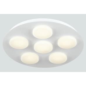 LED-MADISON-R6 - Plafoniera circolare con luci led rotonde bianche 6 watt