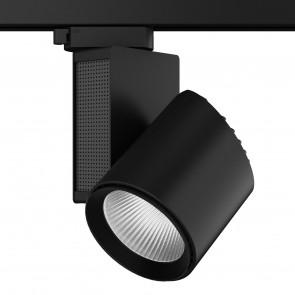 LED-TRAIN-B-40WM - Faretto per binario moderno di colore nero e con luce led 40 watt 4000 kelvin