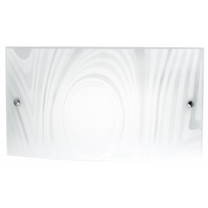 I-UNIVERSE/AP3520 - Applique a led bianca con decorazione dalla linea morbida 16 watt