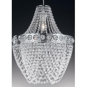 I-BOLERO/S40 - Lampadario classico decorato con cristalli 60 watt E27