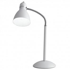 I-PEOPLE-L BCO - Lume Metallo Bianco Orientabile Lampada da Tavolo Scrivania Moderna E27