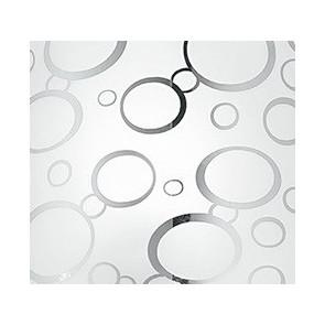 Decoro Cromato a Bolle su Diffusore in Vetro Bianco Linea Bubble FanEurope