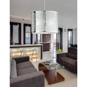 I-MAYA/S35 - Lampadario moderno di colore cromato 60 watt E27