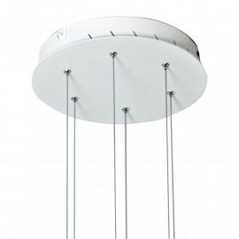 Sospensione Saturn con Base Tonda in Alluminio Bianco FanEurope