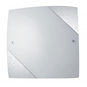 I-PARIS/3030 SIL - Plafoniera bianca con due angoli in argento ex I-PICASSO