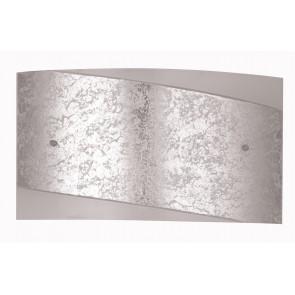 I-PARIS/3520 SIL - Applique rettangolare con fascia centrale argento ex I-PICASSO