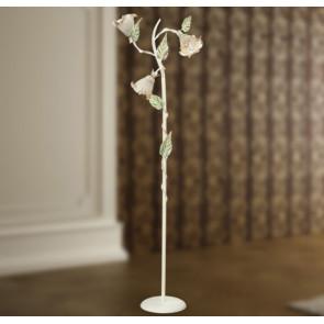 I-PRIMAVERA/PT3 - Lampada da terra Piantana con paralumi a fiore color avorio 40 watt E14