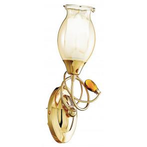 I-ELY/AP1 ORO - Applique Elegante Cristallo K9 Metallo Dorato 1 luce Lampada da Parete Classica E14