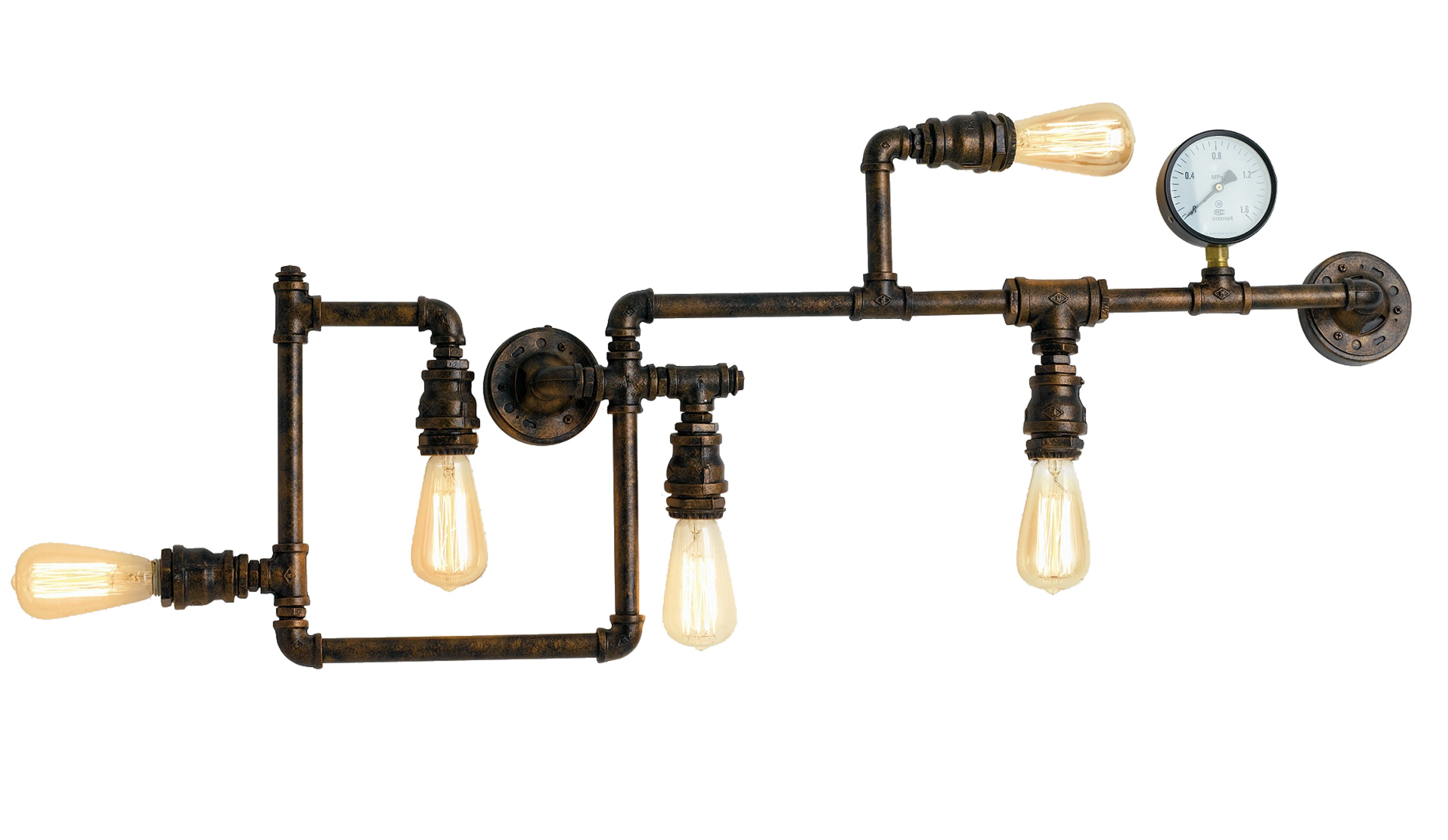 Plafoniera Da Esterno Ruggine : Energia a barra illuminazione led effetto ruggine antica