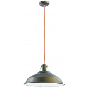 I-BOGOTA/S1 - Sospensione paralume Metallo Bronzo Rustico Lampadario Vintage E27