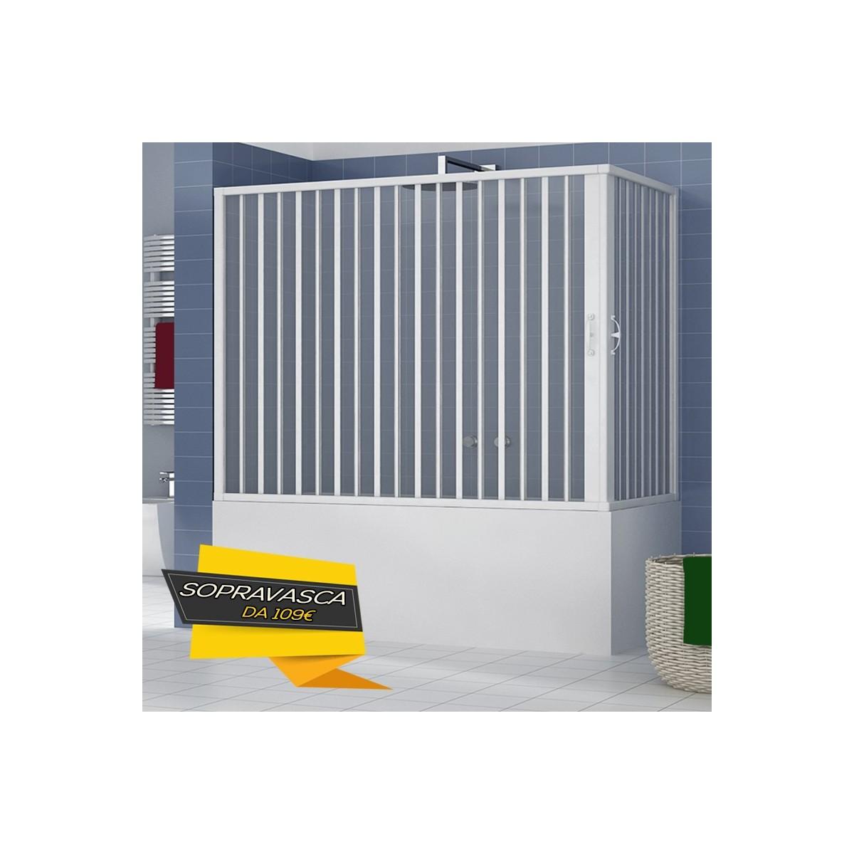 Box Doccia Parete Vasca a soffietto in pvc 70x140 70x150 70x160 70x170