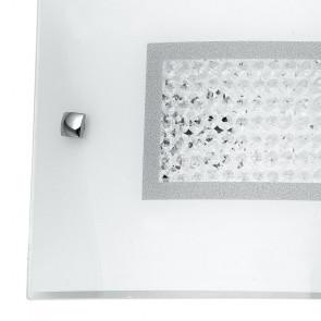Diffusore in Vetro con Decoro Centrale in Cristalli Linea Trilogy