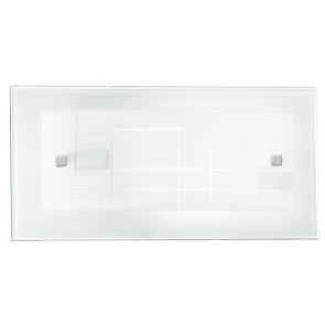 I-MUSA/AP - Applique Rettangolare Vetro Cornice decoro Quadri Lampada da Parete Classica E27