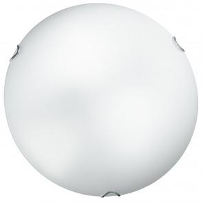 I-OBLO/PL50 - Plafoniera Lampada Classica Tonda Vetro Bianco Satinato Interno E27