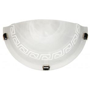 248/00412 - Applique dal design classico bianca anticato con greca bianca 60 watt E27