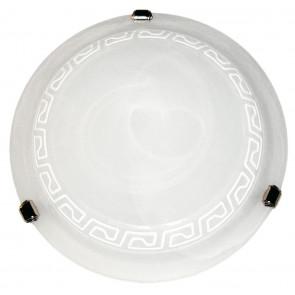 248/01612 - Plafoniera bianca con elegante greca bianca 60 watt E27