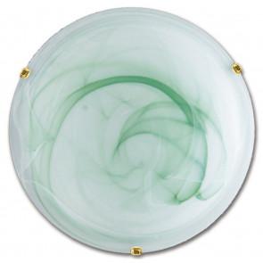 32/04410 - Plafoniera Tonda 50 cm Vetro Sfumato Verde Lampada Classica E27