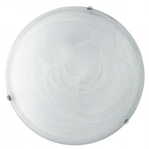 32/28101 - Plafoniera Vetro Sfumato Bianco Tonda 30 cm Lampada Classica E27