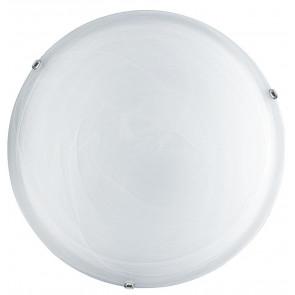 32/28201 - Plafoniera Tonda Vetro Sfumato Bianco Interno Classico E27