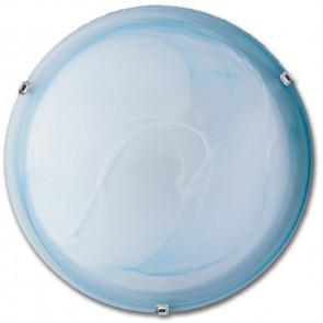 32/03910 - Plafoniera Lampada Classica Tonda 50 cm Vetro Sfumato Azzurro E27