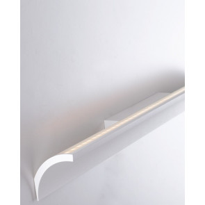 Applique a led barra curva Mustang bianco matto in alluminio da 4000K e 8W illuminazione 120 design moderno