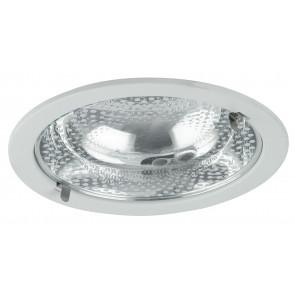 INCASSO-UP-L-BCO - Faretto Tondo Metallo Bianco diffusore Vetro Incasso Controsoffitto E27