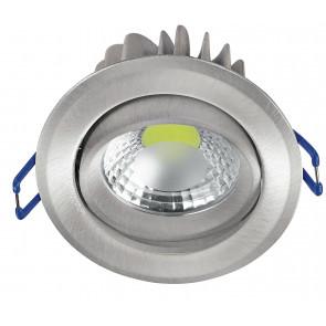 INC-KRONE-5F NIK - Faretto Incasso Tondo Alluminio Bianco Orientabile Soffitto Ribassato Led 5 watt 5500 K