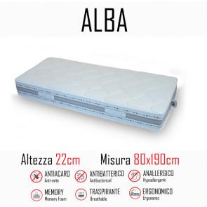 Materasso Alba 80x190 in gomma e memory alto 22cm
