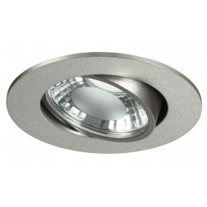 INC-ORIONE-R6 - Faretto Tondo Orientabile Alluminio Silver Incasso Cartongesso Led 6 watt Luce Naturale