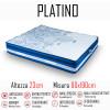 Materasso Platino 80x190 a molle indipendenti e memory gel alto 23cm