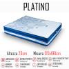 Materasso Platino 120x190 a molle indipendenti e memory gel alto 23cm