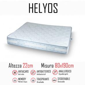 Materasso Helyos 80x190 in gomma e memory alto 22cm