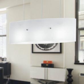 I-AMSTERDAM/S130 - Lampadario dal design moderno di colore bianco 60 watt E27