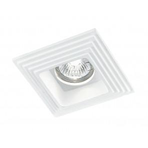 INC-SPETTRO-Q1 - Faretto a Incasso Verniciabile Gesso Decorato Quadrato Cartongesso GU10