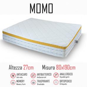 Materasso Momo 80x190  gomma e memory alto 20cm