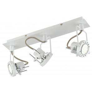 SPOT-TECHNO-3 BCO Faretti  lampade Spot in metallo TECHNO con finitura bianco satinato 3xGU10 6W LED orientabili