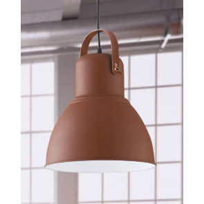 Lampadario a soffitto sospensione Legend bronzo con finiture rame design industriale